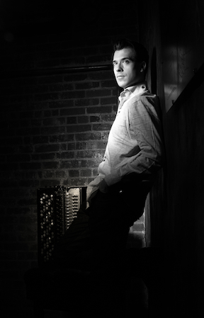 Julien Labro with Accordion (bw)