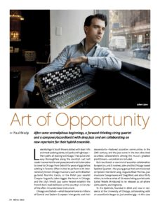 Labro Featured in Chamber Music America Magazine 'Art of Opportunity