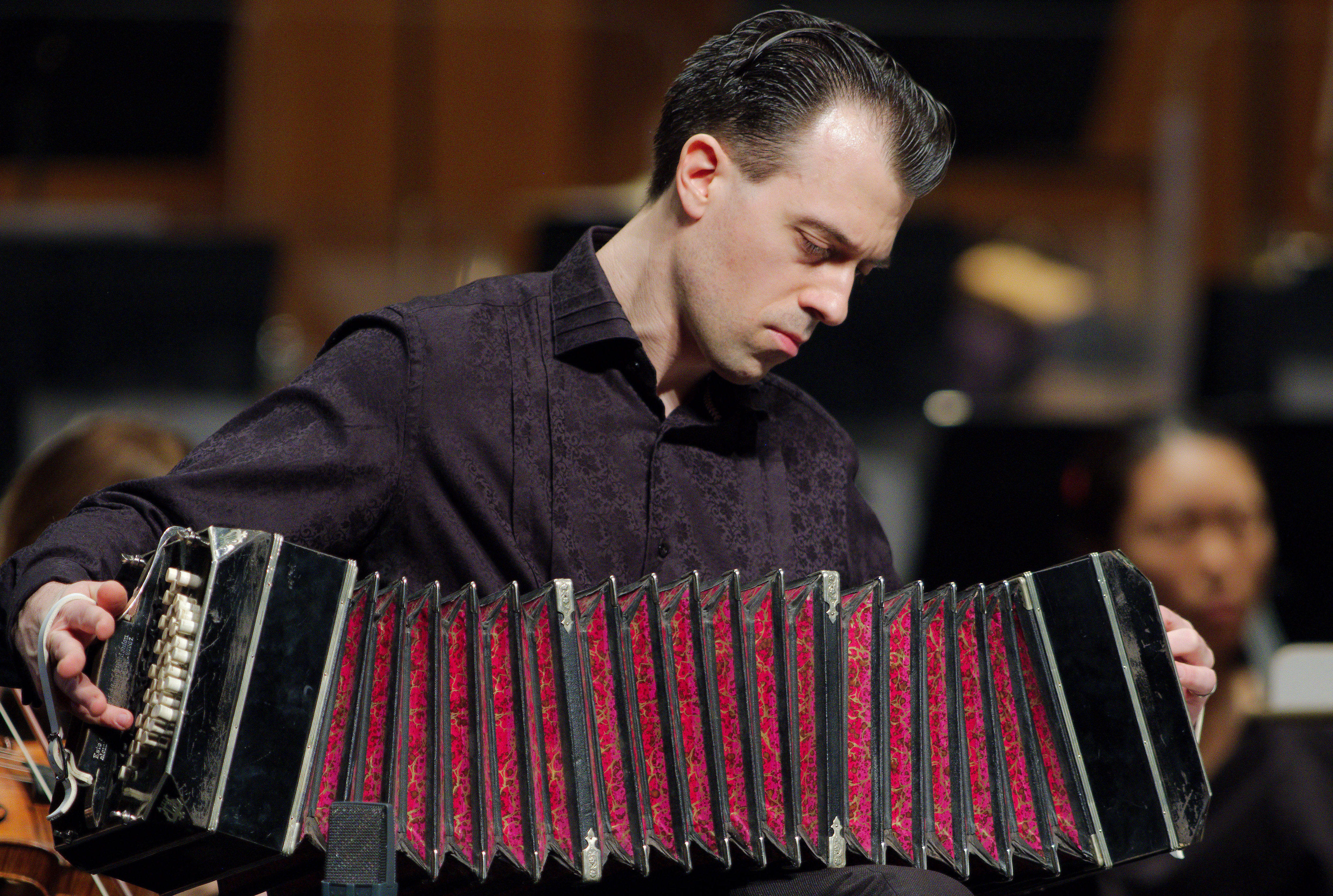 Julien Labro with Bandoneon (color)